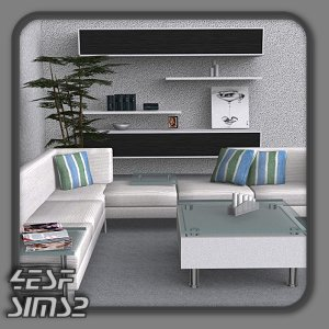 Mod the sims yyata living set.