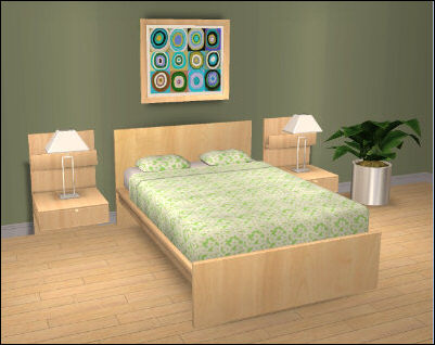 Ikea U0027Malmu0027 Bedroom Set. Download. Includes: Endtable, Lamp, Bed, Bedding  Recolour And A Painting.
